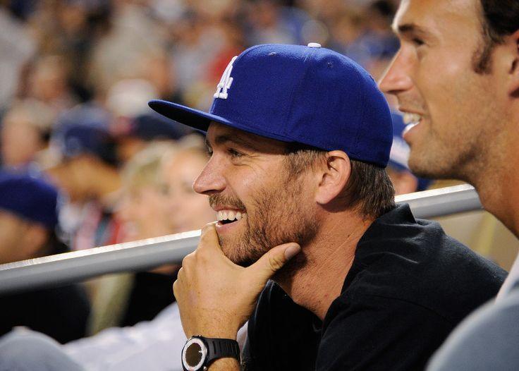 He took in an LA Dodgers game in September 2011. | Look Back at Paul Walker's Best Hollywood Moments | POPSUGAR Celebrity