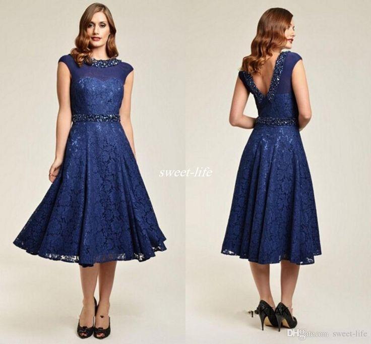 Cap Sleeve Mother Of The Bride Dresses Designer Sheer Neck Ankle Length  Formal Dress Lace Appliques
