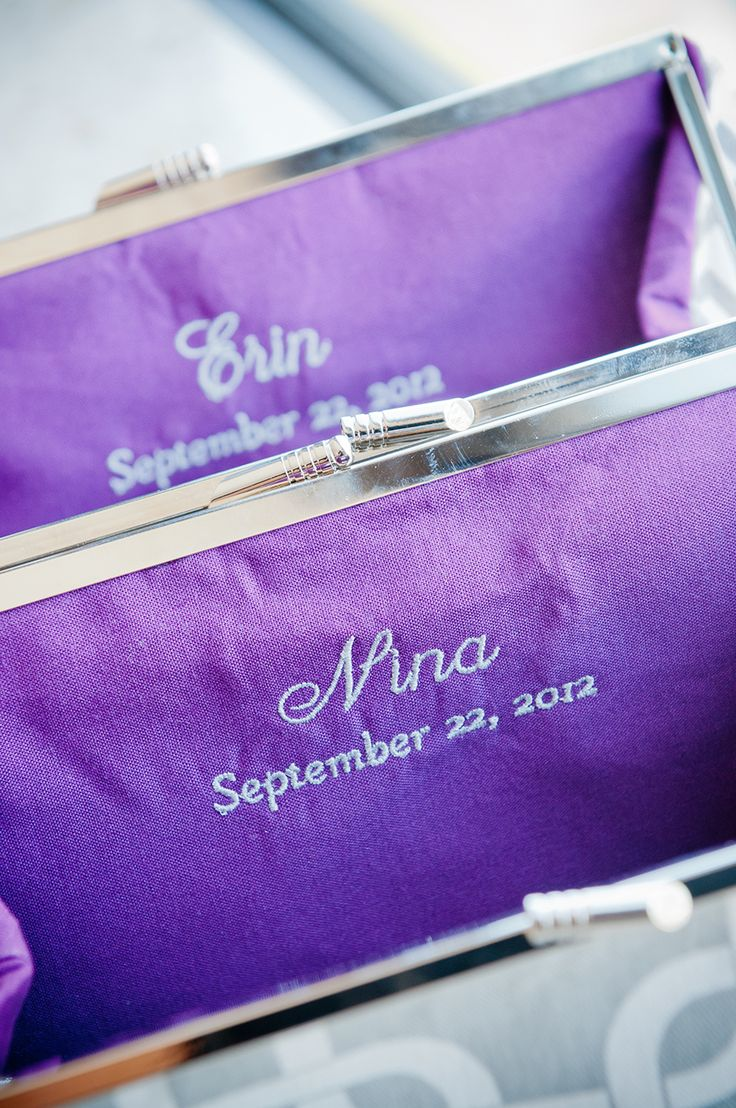 Personalized Bridesmaids Clutch Gifts | photography by http://www.gerberscarpelliweddings.com/