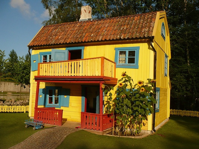 VIMMERBY, PIPPI HOUSE.  House from Pippi Longstocking