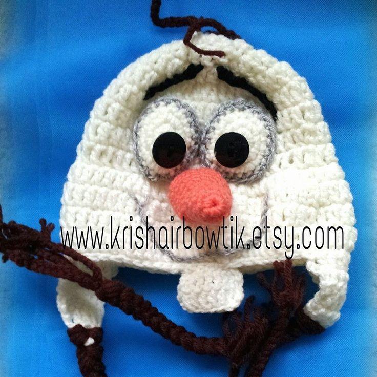 olaf crochet hat-Frozen hat-disney hat-baby crochet hat by KrishairBowtik on Etsy