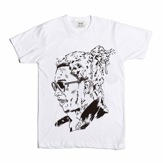Young Thug White Tee // Slime season barter 6 by BabesnGents