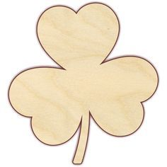 """Three Leaf Clover Unfinished 1/4"""" birch plywood. Pieces are laser cut, which results in smooth, brown edges that do not require sanding. Please note that the back of laser cut pieces will show burn ma"""