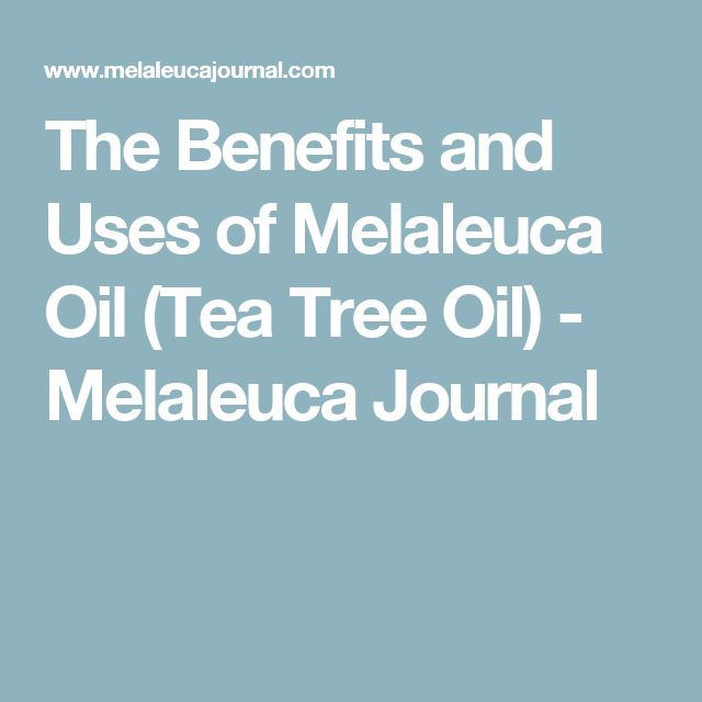 The Benefits and Uses of Melaleuca Oil (Tea Tree Oil) - Melaleuca Journal
