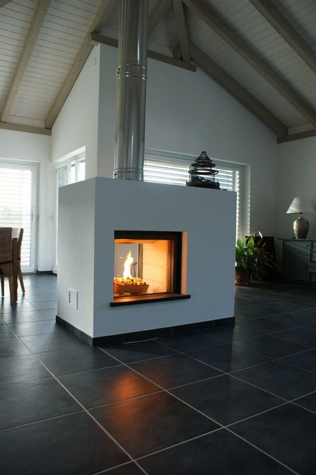 Large and spacious room - Transform your Spacious Space with a Double-Sided Fireplace