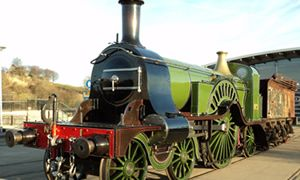 Stirling Single - This is a classic racer from the East Coast main line built in 1870. It has eight foot driving wheels and was recently featured in the Railway Children plays at York and Waterloo. - The National Railway Museum, Shildon