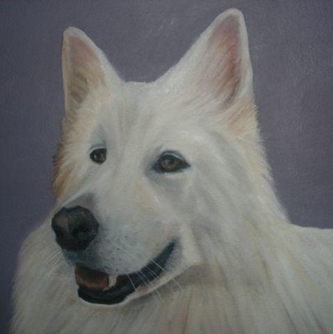 Oil painting of Laska.