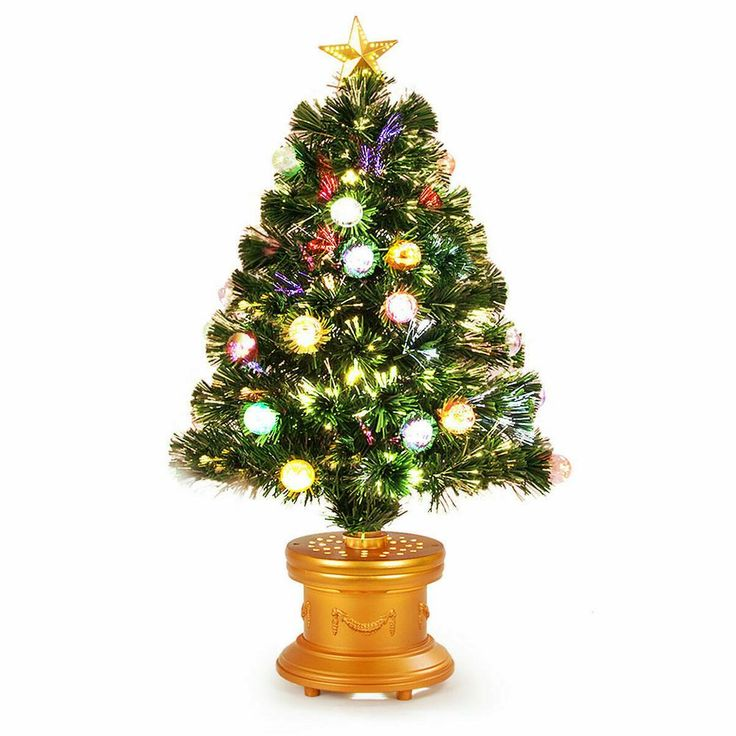 Costway 3 ft. Pre-Lit Christmas Tree Fiber Optical ...