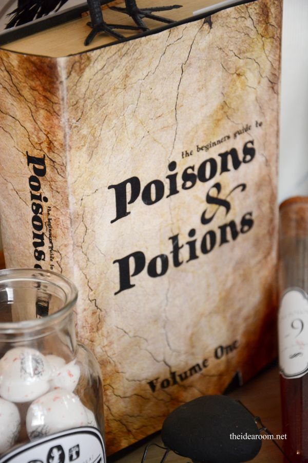 Free Printable Halloween Poisons and Potions Book Cover | theidearoom.net