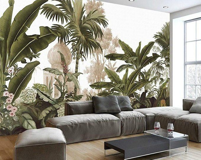 3D Tropical rainforest Self-adhesive Removable Wallpaper Wall Mural Decor 023