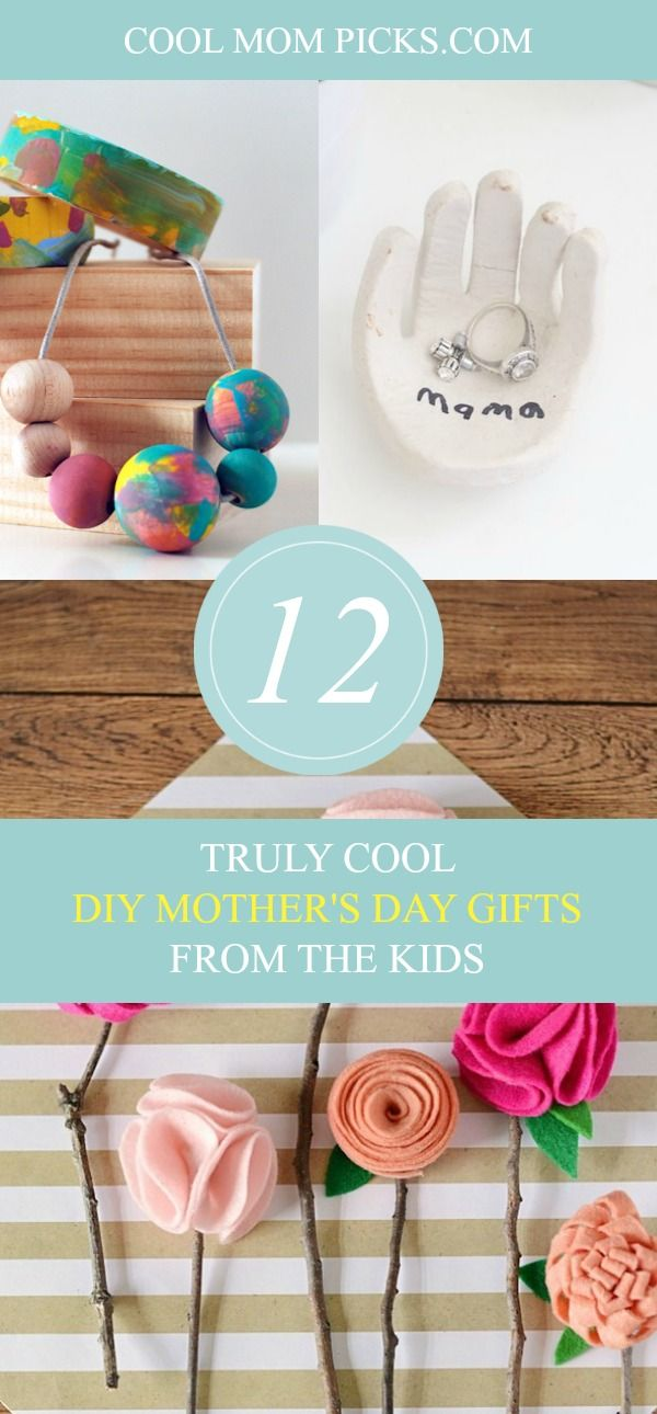 Click over to see creative DIY Mother's Day gifts from the kids that turn into lovely handmade keepsakes she'll save forever.   Cool Mom Picks
