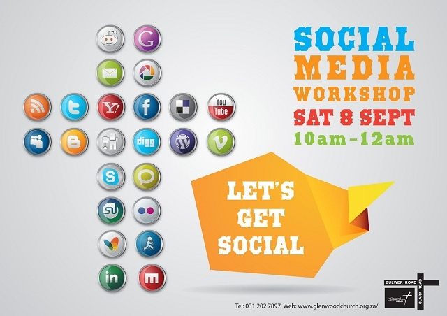 "I'm speaking at a social media workshop called ""Let's Get Social"" in conjunction with Glenwood Community Church to help people get to know how to better use and utilise social media. Come join us. Entrance is free.    Let's Get Social  A #socialmedia workshop to help you better use the various social media tools"