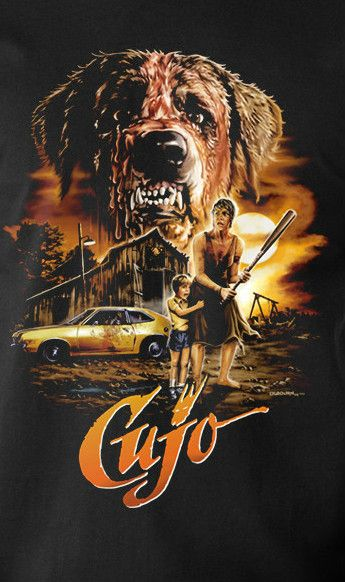 Cujo- doesn't matter how old it gets. This movie had and would still have me on edge of my seat over that damm dog