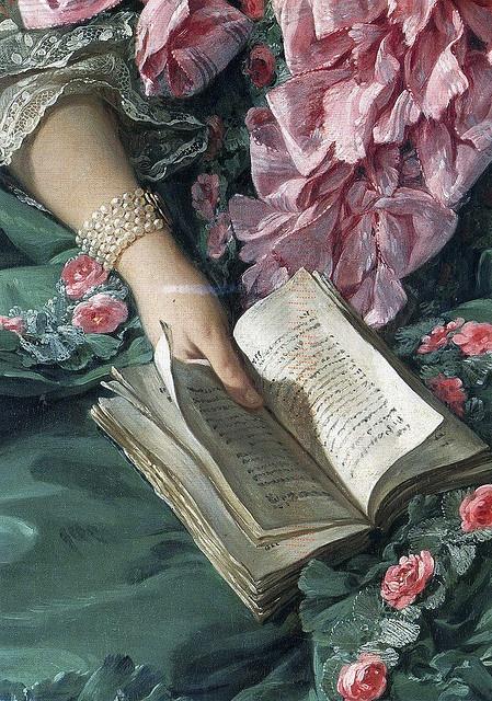 """Detail from """"Madame de Pompadour"""" c.1756 by François Boucher (1703–1770)"""