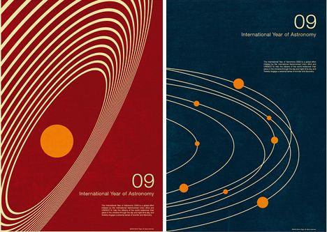 Math + Art = Retro-Futuristic Minimalist Space Posters