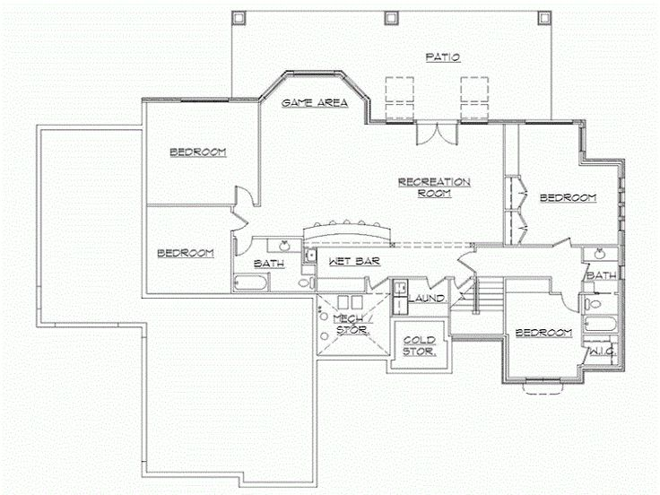 17 best images about rambler floor plans on pinterest for Finished walkout basement floor plans
