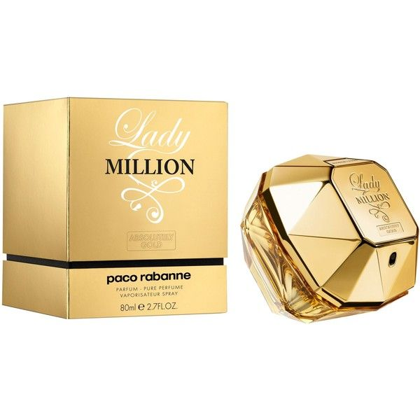 Paco Rabanne Lady Million Absolutely Gold Eau De Parfum 80ml (780 DKK) ❤ liked on Polyvore featuring beauty products, fragrance, floral fragrances, parfum fragrance, eau de perfume, paco rabanne and eau de parfum perfume
