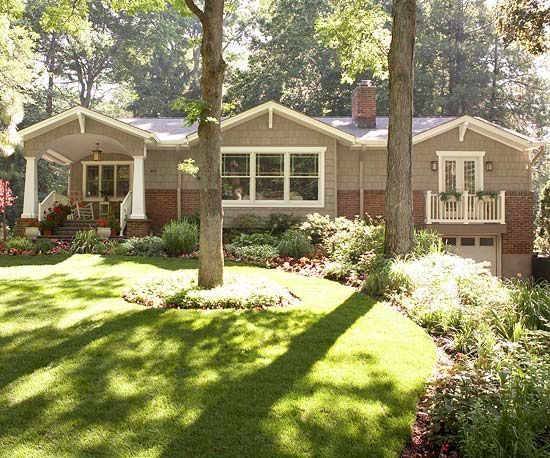 35 best craftsman style landscaping images on pinterest for Craftsman landscape design ideas
