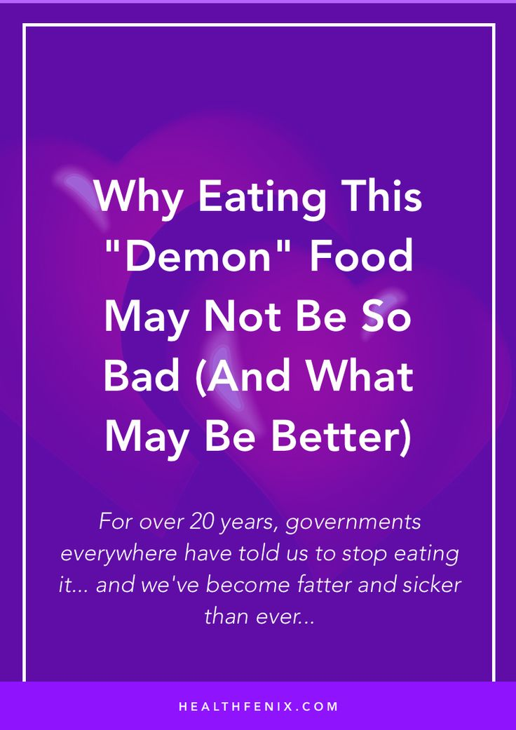 "For over 20 years, governments everywhere have told us to stop eating it... and we've become fatter and sicker than ever...  This ""demon"" food may not be as horrible as we think when compared to junk food and bread..."