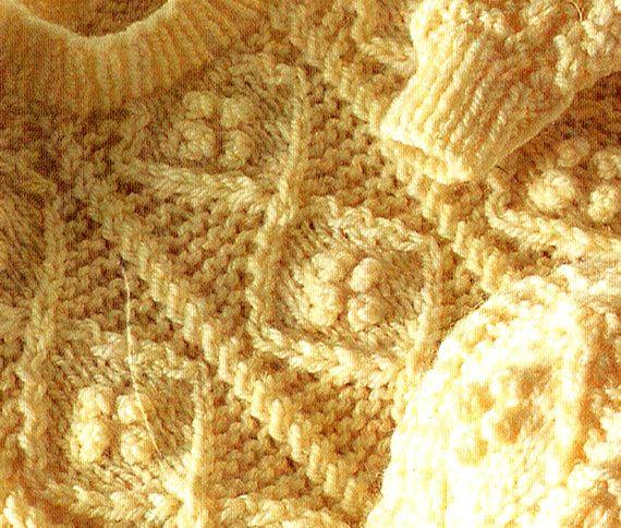 Vintage Rustic Baby 'ARAN' Knitting Pattern by TheAtticofKitsch