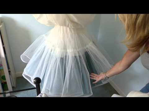 How to sew a tulle under-skirt - YouTube