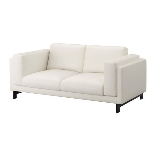 NOCKEBY 2-sits soffa - trä, Risane vit - IKEA