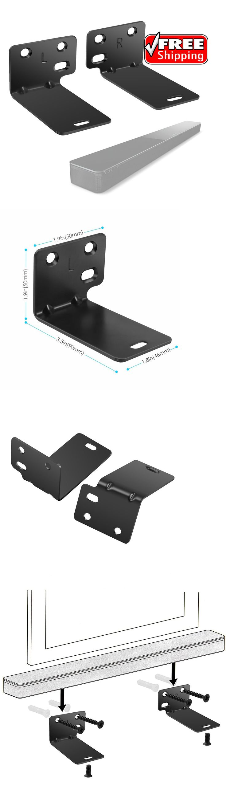 Speaker Mounts and Stands: Wall Bracket For Bose Wb-300 Soundtouch 300 Soundbar Speaker Black - New -> BUY IT NOW ONLY: $33.88 on eBay!