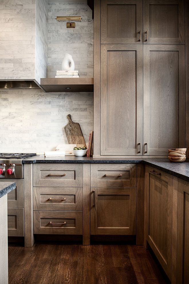 This Stained White Oak Kitchen Is To Die For Bring Natural Textures And Colors Inside B Rustic Kitchen Cabinets Kitchen Cabinet Styles Kitchen Cabinet Trends