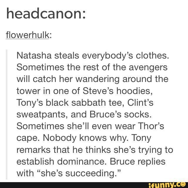 Avengers headcanon