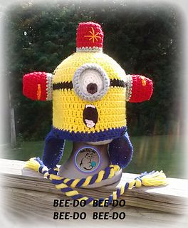 Bee-do minion hat.   Found my roommates Christmas gift