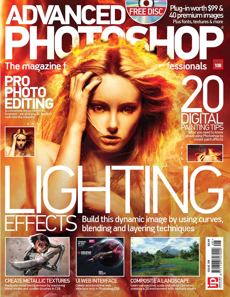 In issue 108 we cover various industry-related topics such as Architecture retouching and 20 great digital painting tips. We bring you an insider look into  commercial industries. Elsewhere in the issue you can learn about perspective, scale and colour when creating a 2D environment and how to create metallic textures from scratch using custom brushes.