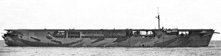 British escort aircraft carrier HMS Audacity (D10), originally Norddeutscher Lloyd cargo ship Hannover, 1941, and was the world's first escort carrier.