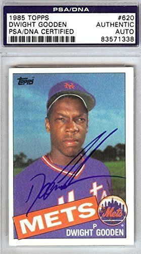 Dwight Gooden Autographed 1985 Topps Rookie Card #620 New York Mets Psa/dna Stock #79436