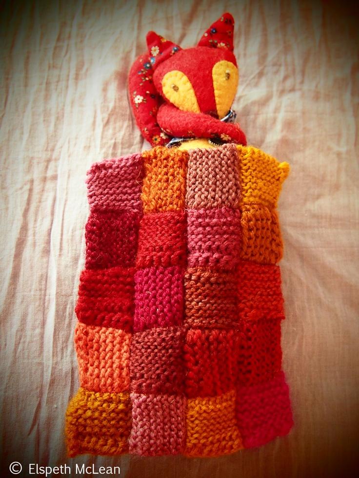 Night Night Little Prairie Fox #quilt #fox #knitting