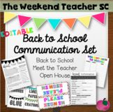 Back to School / Meet the Teacher/ Open House Classroom Co