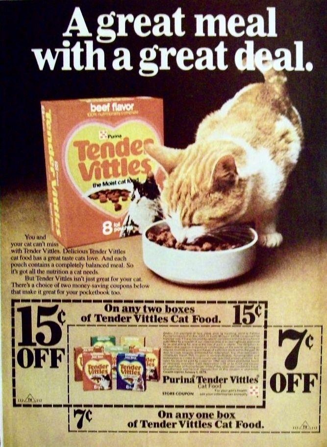 Tender Vittles Cat Food Ad W Coupon Vintage Advertisements Vintage Ads Retro Ads