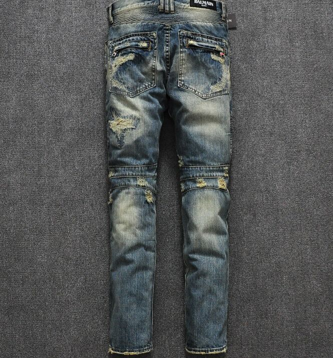 Balmain Jeans Men Prices | Home > Balmain Jeans >Motorcycle Balmain Ripped Jeans 2014 Style