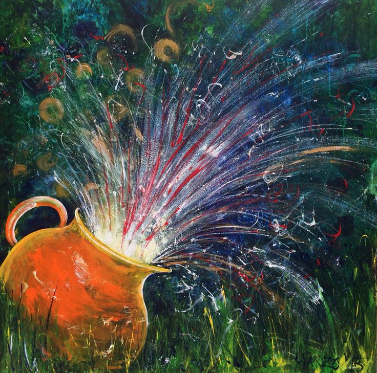 Explosive Outpouring. Prophetic art painted live at Pour It Out church 2015