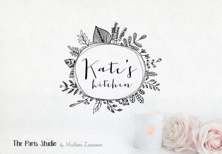 Hand Drawn Style Botanical Boutique Logo - boutique logo, website logo, blog logo, creative business branding or small business logo.