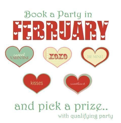 Book a Party with Me in February, and pick a Prize!!! Interest, Ask me How!!!