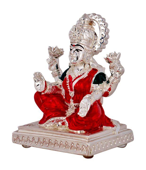 Silver Plated Lakshmi Ji For  Lakshmi Pooja #craftshopsindia