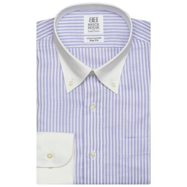◇優しい肌触り やわらかガーゼ◇ ◆ AIRFACTOR(R) エアファクター ◆  綿100%のガーゼ生地で、肌に優しく 夏を爽やかに、快適なシャツライフを。  吸湿・速乾に加え、高通気性に仕上げ ムレず、風の通る涼しい着こなしに。  シャツ着用時間の長い、ビジネスマンへ 新しいシャツスタイルをご提案します。   □■ TOKYO COTTON QUALITY ■□  綿100%・高通気・ストレッチ・UVカット。 こだわりある高機能性素材のシャツ。  上品なクレリック仕様は華やかな柄と 合わせると、お洒落感が高まります。 知的で鮮明なイメージのあるパープルは かっちり感のあるスーツコーデが◎。    季節感にマッチする機能性シャツ きっちりめな職場のクールビズスタイル    Vゾーンに落ち着きを与えるネイビー系 シンプルなストライプ柄 おすすめはこちら!    クレリック ボタンダウンカラー  細身体 詳しいサイズはこちら  綿100%  形態安定加工弊社こだわりの 形態安定加工についてはこちら          シャツのお手入れについてはこちら   カフリンクス使...