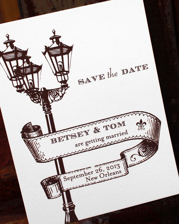 St. Charles Avenue: New Orleans Wedding Save The Date