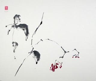 VIDA Foldaway Tote - graphic sumi-e Peacock 02 by VIDA 2eYxImjtO