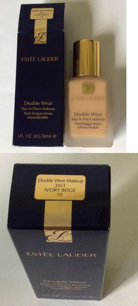 Foundation: Estée Lauder Double Wear Stay-In-Place Makeup Foundation Shade 3N1ivory Beige 10 -> BUY IT NOW ONLY: $33 on eBay!