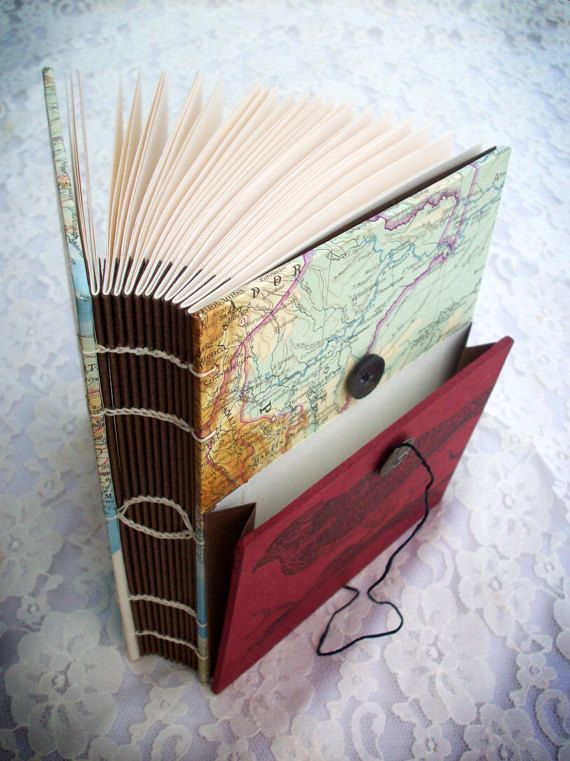 Single Needle Coptic Bound Sketchbook with by CivilDecayHandmade