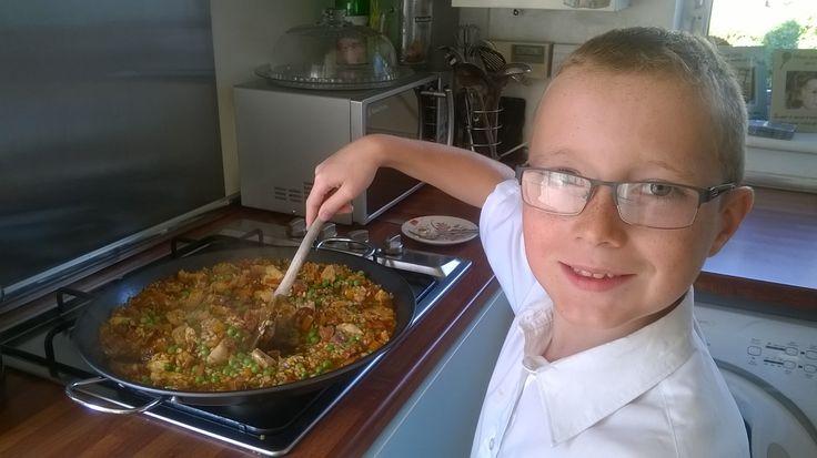 Get kids cooking, Ellis' Paella