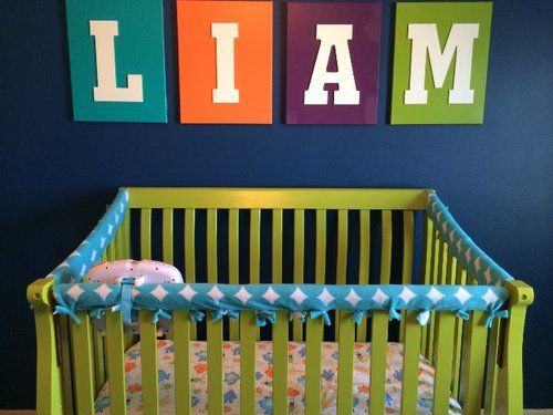 crib rail cover from swim noodle and fabric...