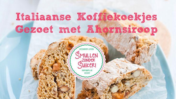 Smullen zonder Suiker! Recept | Italiaanse Koffie Koekjes gezoet met Ahornsiroop. http://smullenzondersuiker.nl/recept-filmpje-italiaanse-koffie-koekjes-gezoet-met-ahornsiroop/