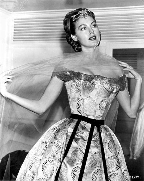 Ava Gardener in Off-Shoulder Dress